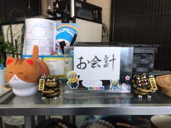 奈良・田原本にある千蘭のお会計テーブル