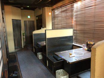 大和八木駅近くでランチが食べられるたつ屋の内観