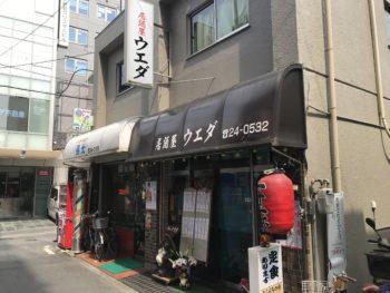 大和八木駅近くにある居酒屋ウエダの外観