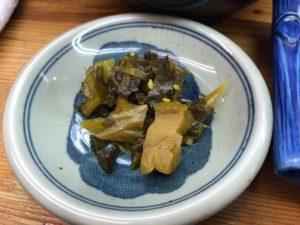 ウエダの小皿メニュー高菜