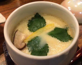 山葵の海鮮丼についてくる茶碗蒸し