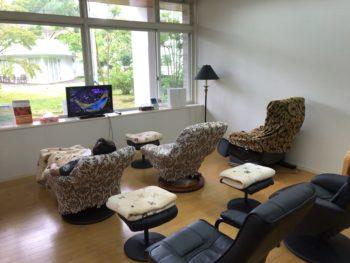 グランソール奈良の待合室では人間ドック検診の合間の待ち時間をゆったりと過ごせます