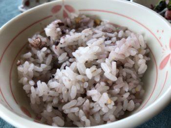 グランソール奈良の人間ドック後の食事「十五穀米」