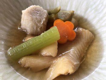 グランソール奈良の人間ドック後の食事「カレイの煮物」