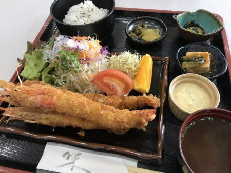 室生寺近くでランチ「室生路」のエビフライ定食