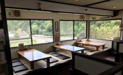 室生寺近くの食事処室生路の座敷