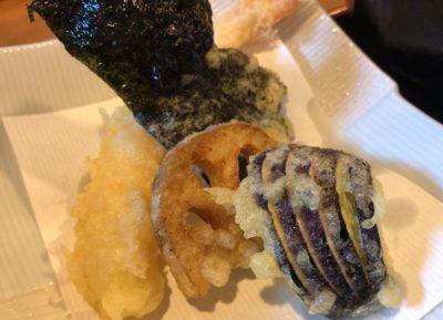 橿原・畝傍御陵前駅近くでランチができる食事処「なな郎」の天ぷら
