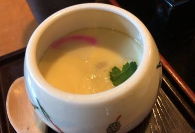 橿原・畝傍御陵前駅近くで和食ランチの食事処「なな郎」の茶碗蒸し