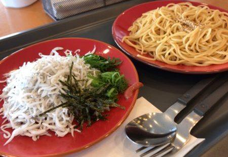 田原本青垣生涯学習センター内のカフェ「あおがきカフェ」のしらすパスタ
