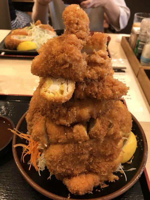 大和郡山とんまさの若鶏かつ定食(大)のアップ