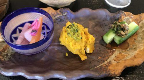 グランソール奈良の人間ドック後の食事・かぼちゃのスパイスサラダ