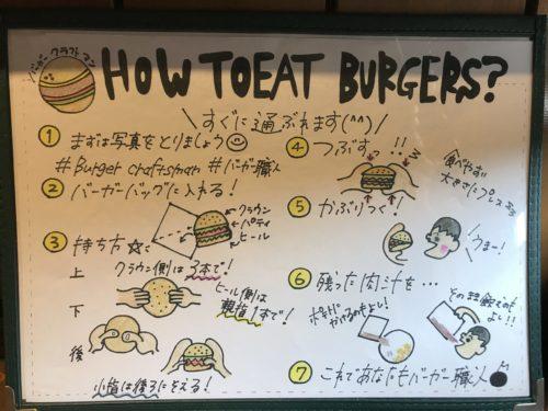 橿原市のバーガークラフトマンのハンバーガー食べ方マニュアル